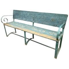 Rare Italian Antique/Vintage Bench Outdoor, Garden, Rustic, Country