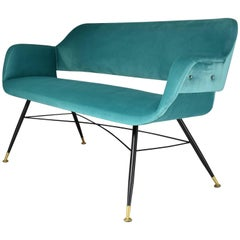 Italian Mid-Century Velvet Sofa, 1950's