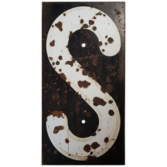 Mid-20th Century French Enameled Railway Sign