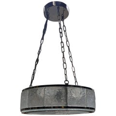 Art Deco Chandelier with Molding Glasses