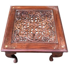 Lovely French Antique Side Table with Intricate Carving