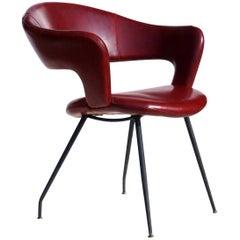 1950s Gastone Rinaldi by RIMA Italian Midcentury Design Chair