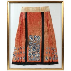 Antique Chinese Skirt from the Qing Dynasty, 1644-1911