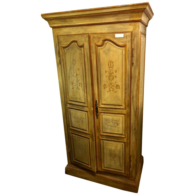 Italian Paint Decorated Cabinet or Wardrobe