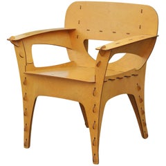 Modern Birch Plywood Design Puzzle Lounge Chair by David Kawecki