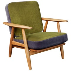 Hans Wegner Oak Cigar Chair GE-240 by GETAMA, 1950s