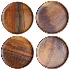 Carl Auböck Set of Four Walnut Plates