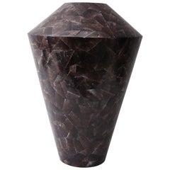 Maitland Smith Pen Shell Vase in Aubergine