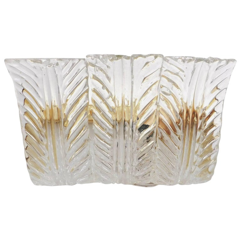 Textured Leaves Wall Sconces