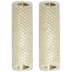 Pair of Diamante Orizzontale Wall Sconces