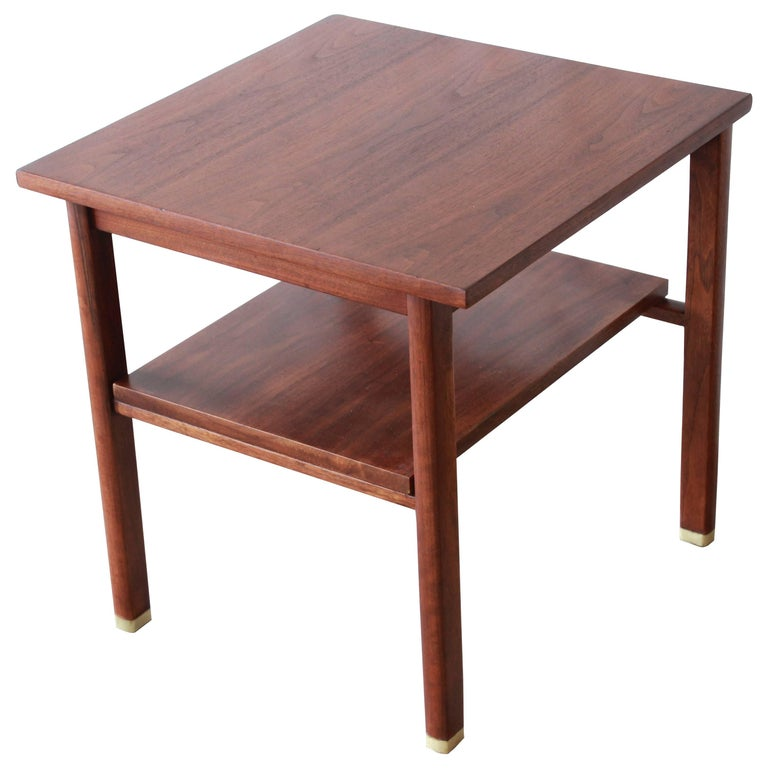 Edward Wormley for Dunbar Mid-Century Modern Walnut Side Table, 1950s