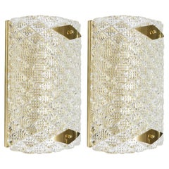Pair of Diamante Short Wall Sconces