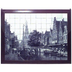 Dutch '19th Century' Monumental Size Wood Framed Wall Plaque
