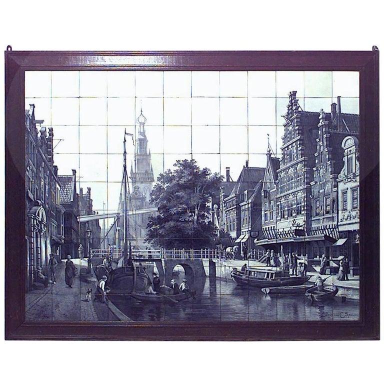 Dutch '19th Century' Monumental Size Wood Framed Wall Plaque