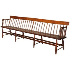 Windsor Deacon's Wooden Bench