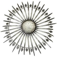 Very Large and Unusual Sunburst Ceiling Fixture