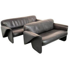 Vintage Swiss De Sede 'Ds 125' Sofas Designed by Gerd Lange, 1978