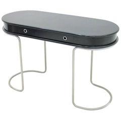 Black Ladies Desk Vanity Console Table, Italy, 1960s