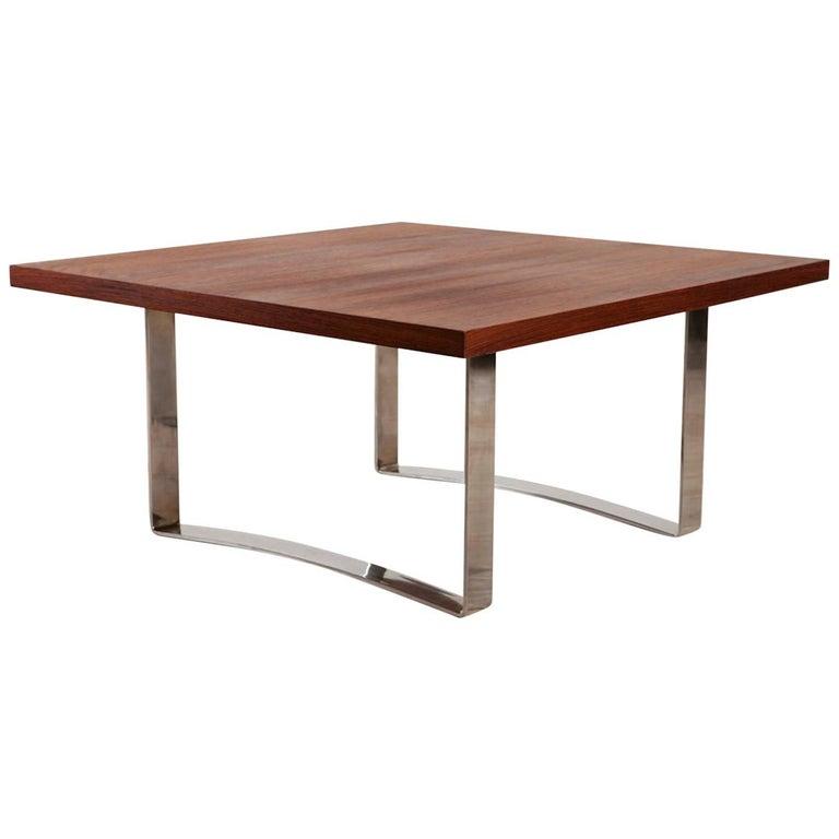 Bodil Kjaer Rare Low Square Coffee Table, circa 1959