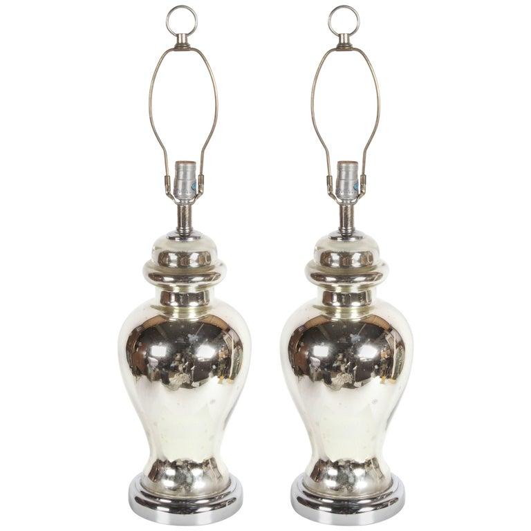 Pair of Midcentury Mercury Lamps