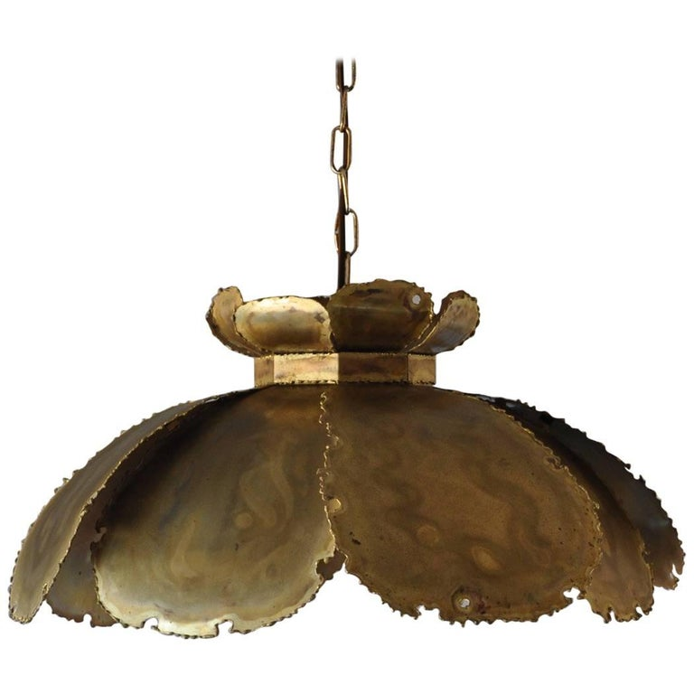 Hanging Brass Lamp from the 1960s by Svend Aage Holm Sørensen