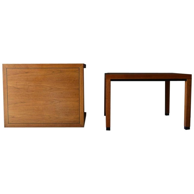 Pair of Walnut Side Tables by Directional, circa 1970