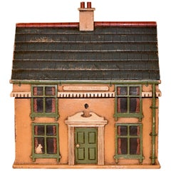 19th Century Painted Cottage Tea Caddy