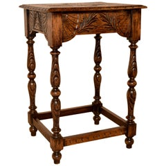 19th Century Carved English Side Table