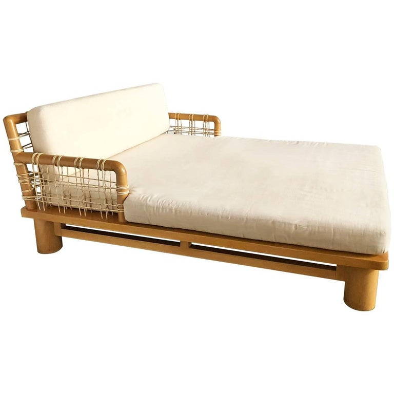 Karl Springer Double Chaise Lounge For Sale