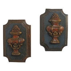 Pair of Carved Architectural Fragments Mounted as Wall Plaques 18th Century