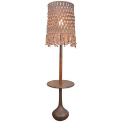 Danish Modern Teak Onion Floor Lamp