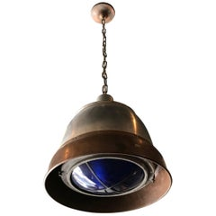 Industrial Copper and Aluminium Macbeth Daylight Pendant Light