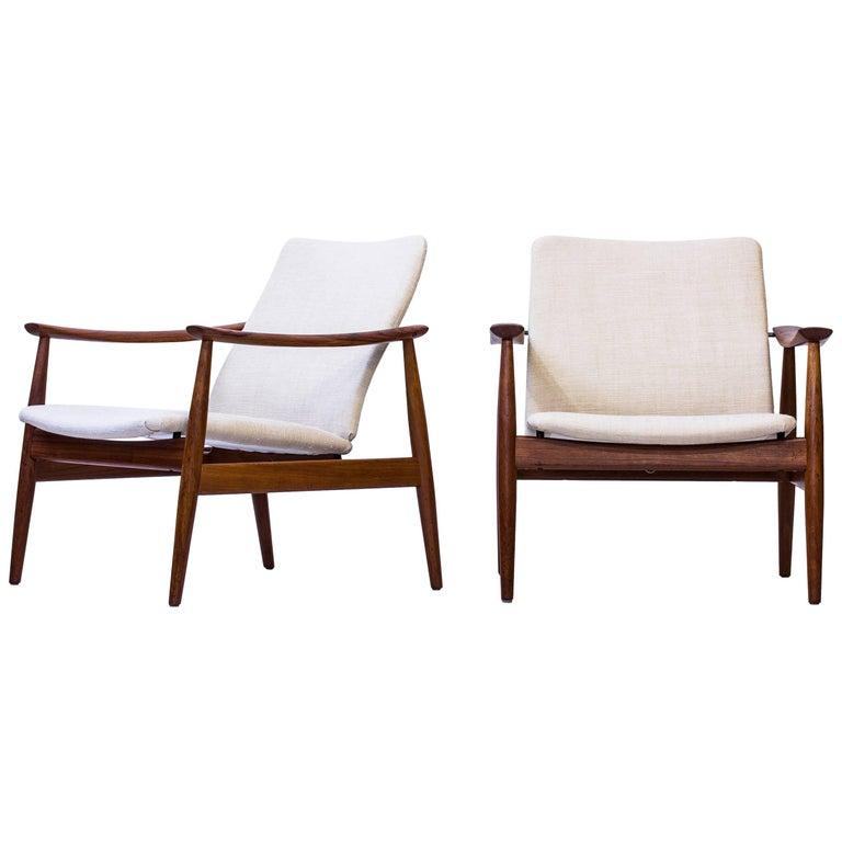Pair of Easy Chair Model 138 by Finn Juhl, Denmark, 1950s