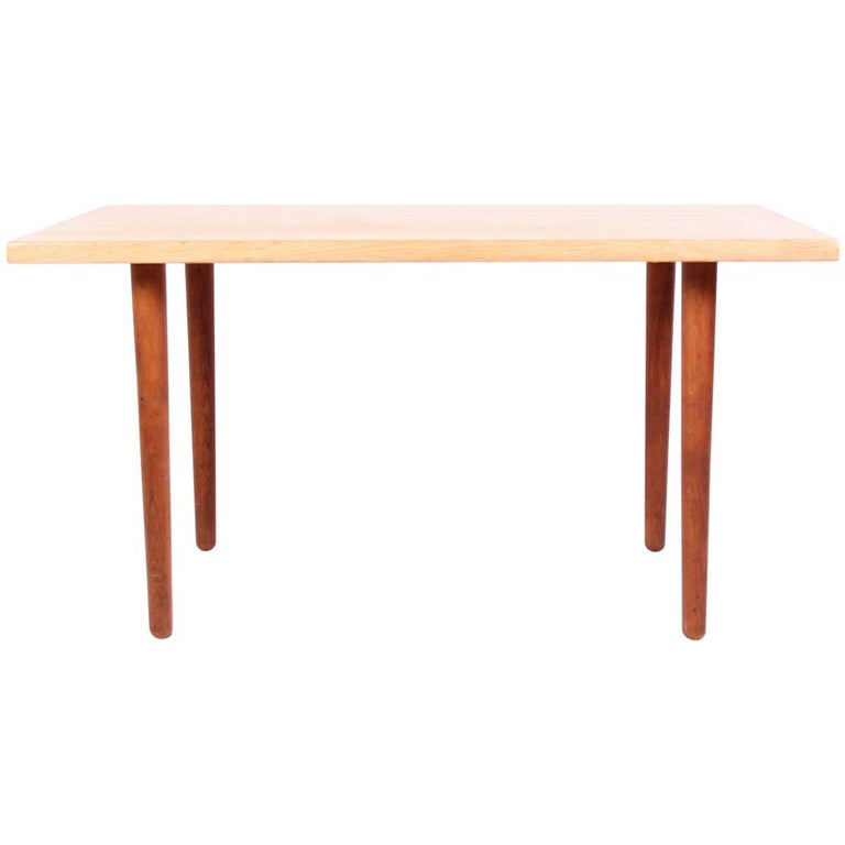 Hans J Wegner Oak and Teak Coffee Table by Andreas Tuck