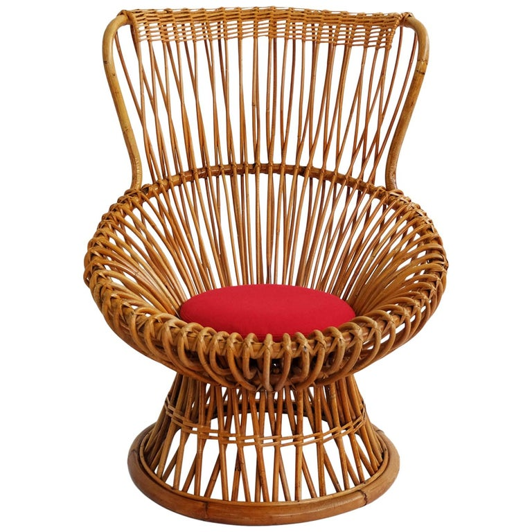 Iconic Lounge Armchair Model Margherita by Franco Albini, Bonacina, 1951