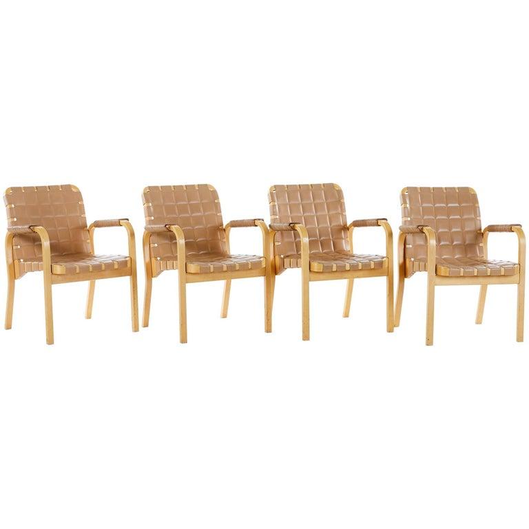 Alvar AALTO Leather Armchairs