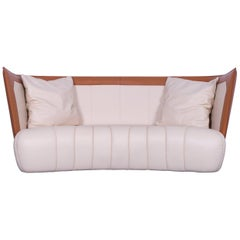 De Sede DS 146 Leather Sofa Off-White Three-Seat Couch