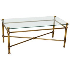 1950s Vintage Brass Coffee Table