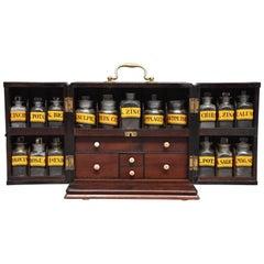 Mid-19th Century Mahogany Travelling Apothecary Cabinet