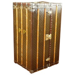 1930s Louis Vuitton Wardrobe Monogram Trunk with Secrets