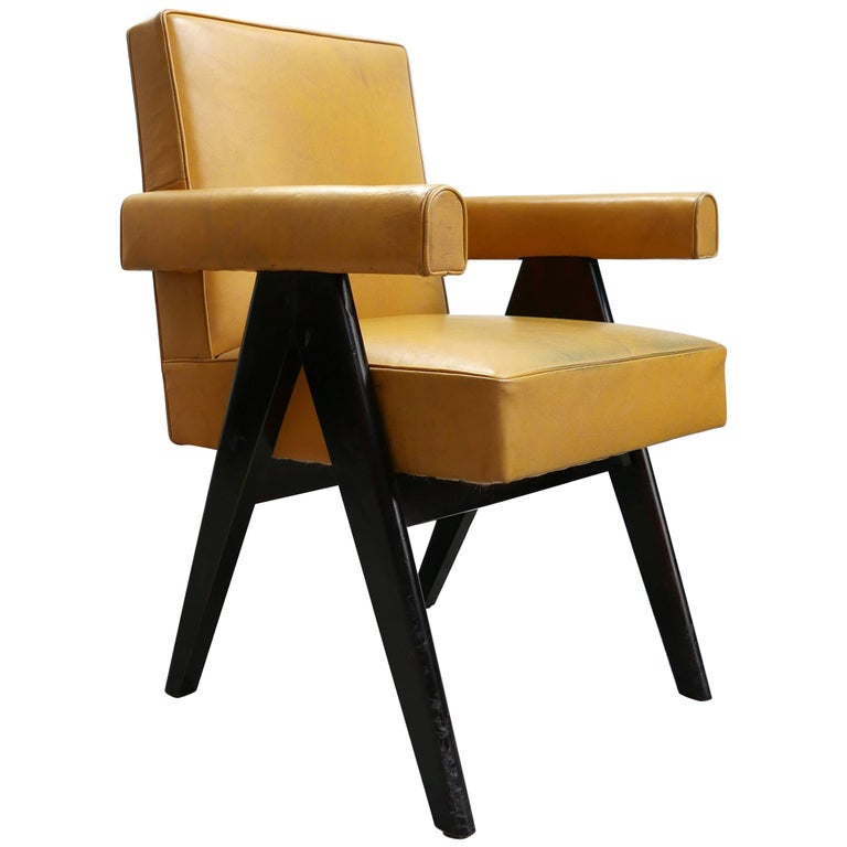 Pierre Jeanneret, PJ-SI-30-A, Committee Armchair, Chandigarh, circa 1953 For Sale