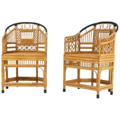 Pair of Unusual French Bamboo Chairs