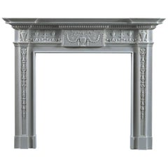 Jamb, Portman Reproduction Fireplace in White Marble