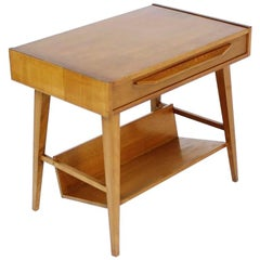 Swiss Midcentury Table with Drawer from Pago