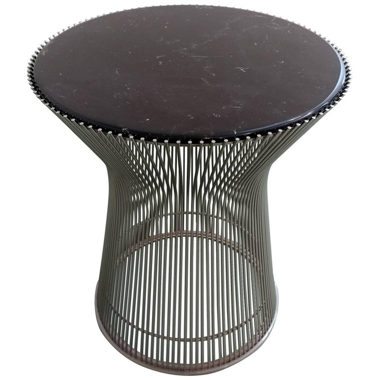 Marble Top Sculpture Table by Warren Platner for Knoll Offered by Laporte