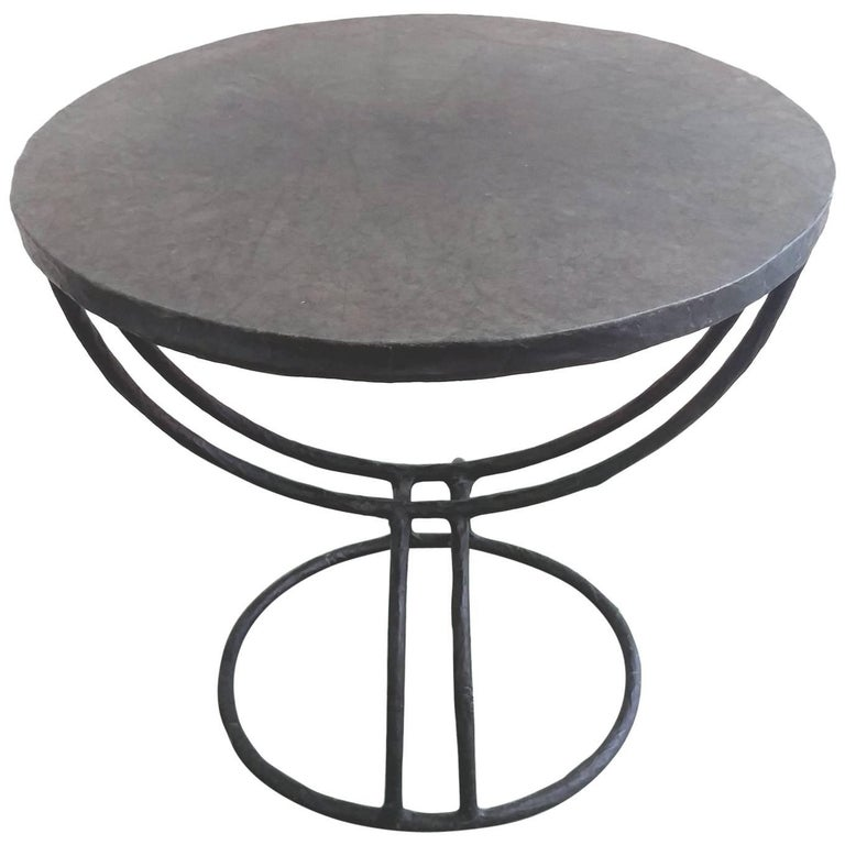 Parchment Occasional Table attributed to Diego Giacometti Offered by LaPorte For Sale