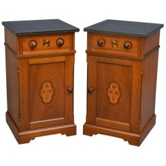 Pair of Aesthetic Movement Bedside Cabinets