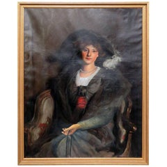 Antique Oil Painting of a Woman