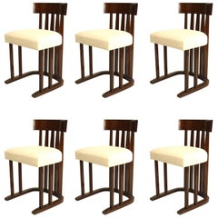 Set of Six Austrian Secessionist Style Side Chairs