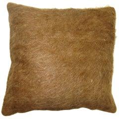 Brown Turkish Mohair Rug Pillow